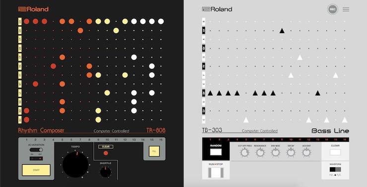The Roland 808303.studio UI
