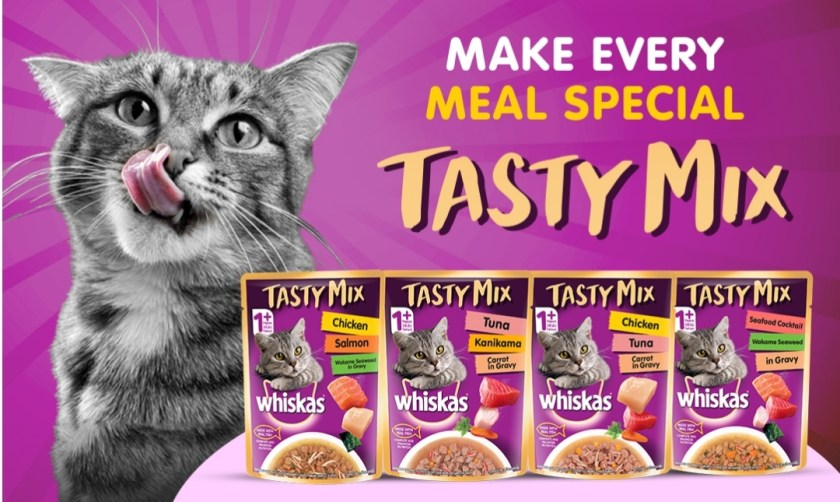 Get Whiskas Tasty Mix Cat Food Sample for Free