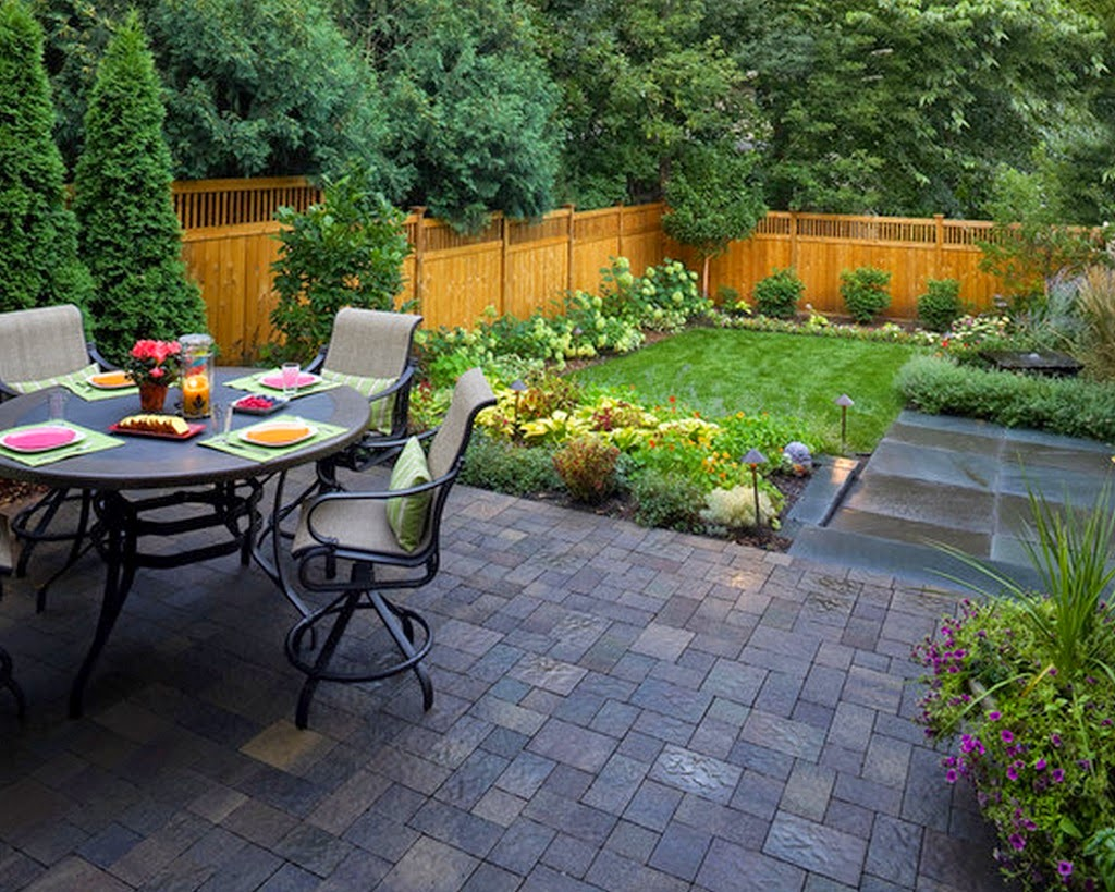 Wonderful Stunning Landscape Design Ideas for Your Small ... on Back Garden Patio Ideas  id=37381