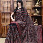 Aakriti - Ajrakh Modal Silk Saree