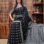 Bahula - Ikkat Cotton Saree without Blouse