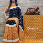 Balachandrika - Ikkat Cotton Saree without Blouse