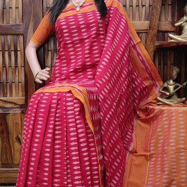 Bhavada - Ikkat Cotton Saree without Blouse