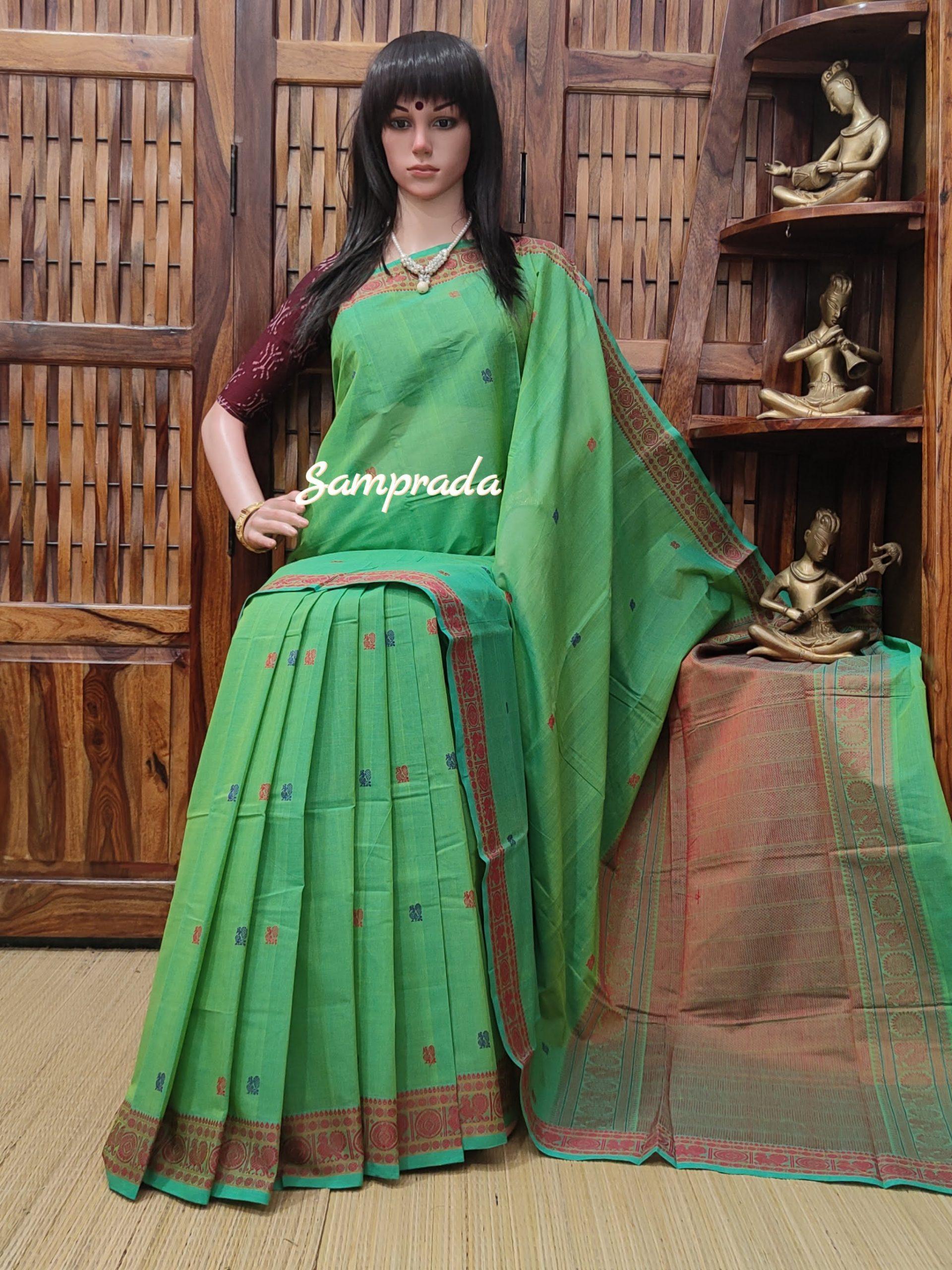 Anjusha - Kanchi Cotton Saree