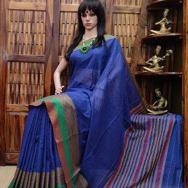 Madhurima - Mercerized Pearl Cotton Saree