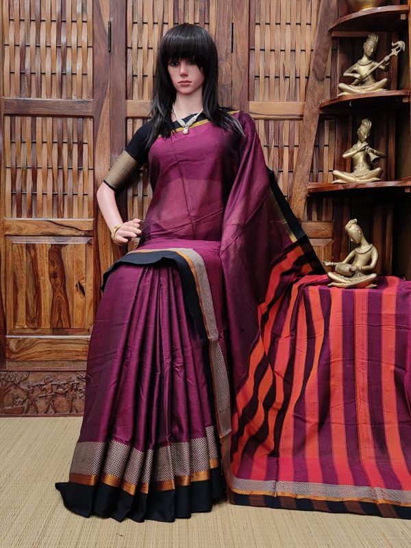 Malarvizhi - Mercerized Pearl Cotton Saree