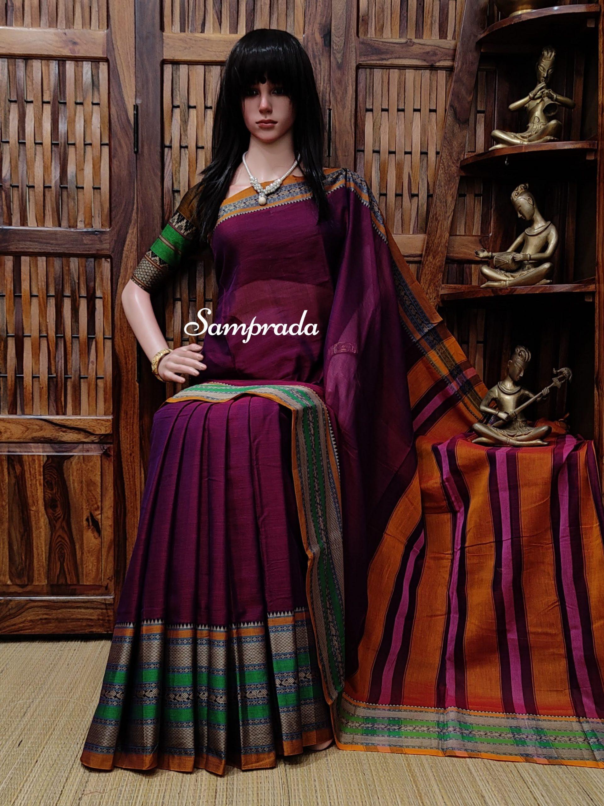 Nanditha - Mercerized Pearl Cotton Saree