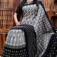 Pashans - Ikkat Cotton Saree