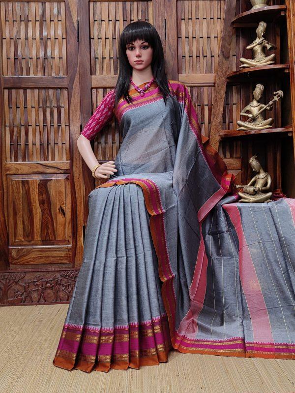Devgarbha - Pearl Cotton Saree