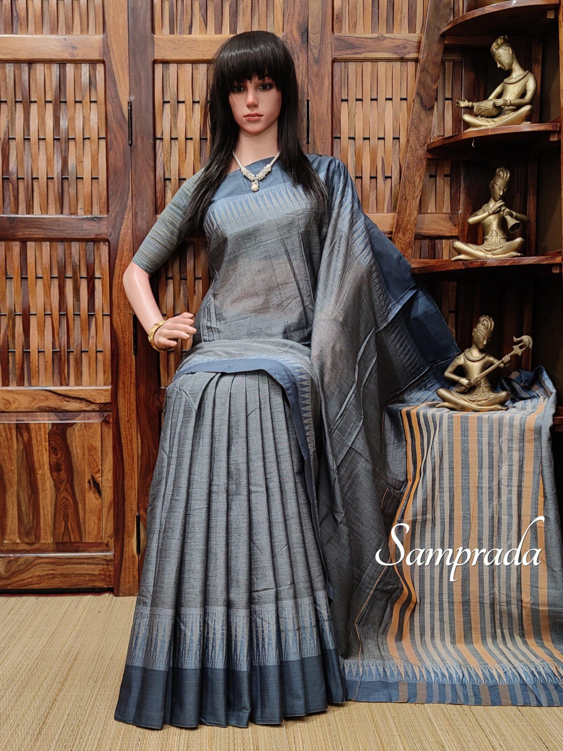 Trinetra - Pearl Cotton Saree