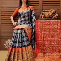 Asluta - Ikkat Silk Saree
