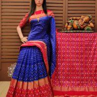 Sowrasena - Ikkat Silk Saree