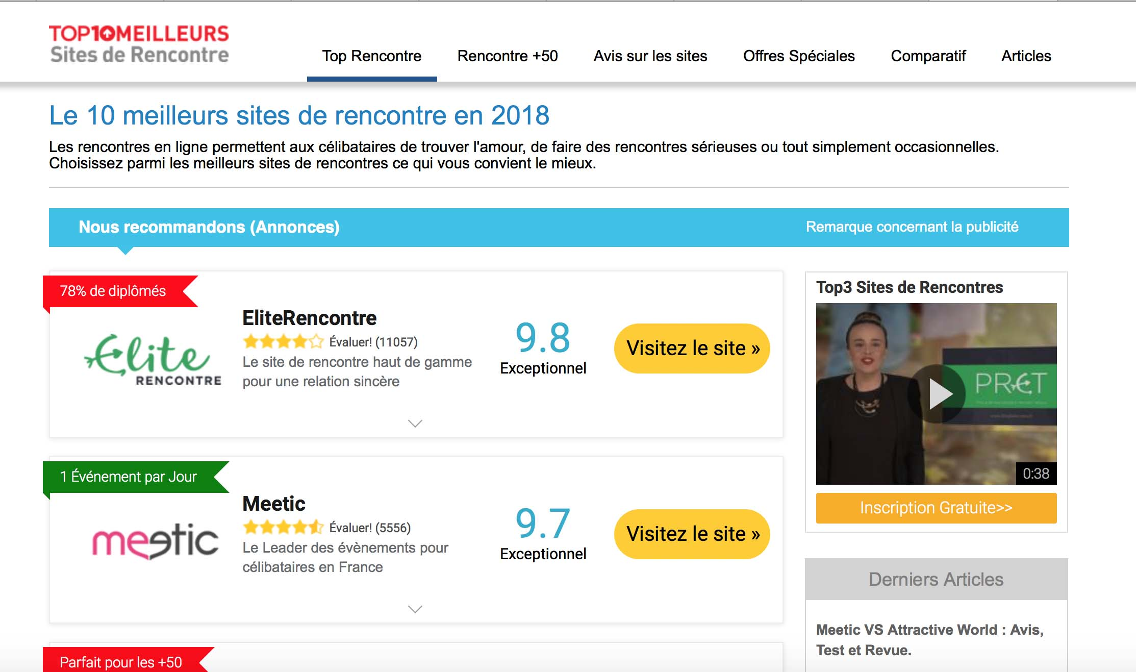 sites de rencontres gratuits comparateur de site de rencontre