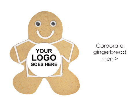 Sam's Kitchen corporate gingerbread man click here
