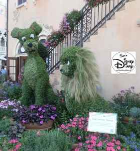 Epcot Flower and Garden 2012 - Lady and the Tramp (Italy/World Showcase)