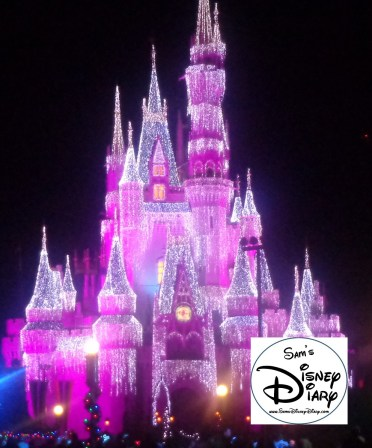 Cinderella Castle Christmas lights take on special meaning during Mickey's Very merry Christmas Party.
