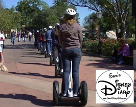 Epcot Segway Tour - lined up on the Segway Tour