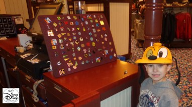 Pin Trading? Look for the pin board at package pickup at Fulton's General Store