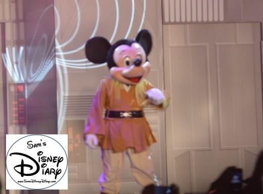 Jedi Mickey appears during Star Wars Weekend 2013 Hyper Space Hoopla