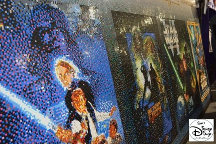 The Lego Mural Celebrating Return of the Jedi's 30th Anniversary.