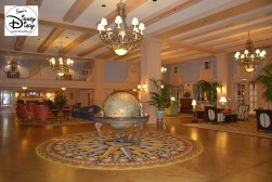 Be sure to look closely at the globe in the center of the lobby, did you spot the hidden mickey and interesting places to visit?