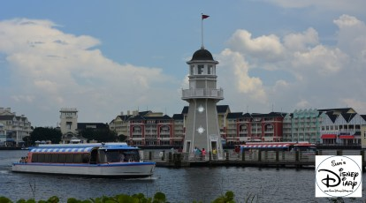 Behind the hotel you'll find the boat launch with transportation to Epcot (Via Boardwalk) and Hollywood Studios (Via Swan and Dolphin). In your in a hurry, a walk to Epcot will be faster.