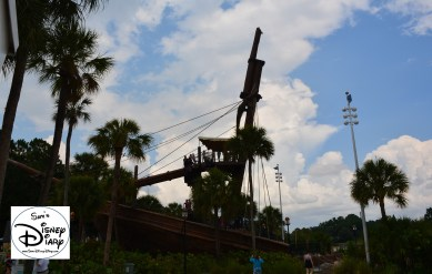 The Shipwreck that is the feature slide. (I've seen this so many times form the boardwalk, finally able to use it)