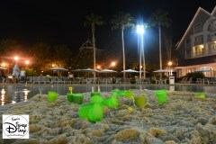 The sand bottom feature pool at stormalong bay. Kids Meals are served in the green buckets. Lots available for use.