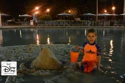 Night Time Sand Castle
