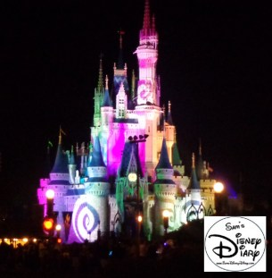 Cinderella's Castle during Hallow-Wishes