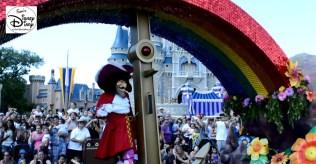 Captain Hook , under the Peter Pan Float