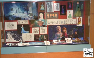 The Animation Gallery inside the Art of Animation Building changed as the latest feature was released... Frozen was feature just before it's release