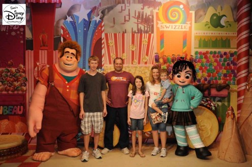 The Latest in Character Meet and Greats could always be found in the Art of Animation Building - Wreck it Ralph among many..
