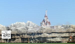 SamsDisneyDiary Episode #10 - New Fantasyland Phase #1- Beasts Castle taking shape high above the be Our Guest Restaurant (February 2012)