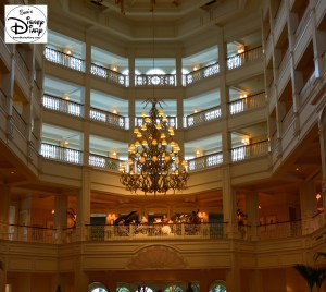 The Beautiful Lobby of the Grand Floridian, with live music