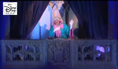 Sams Disney Diary #65 -Fairy Godmother helps to light the holiday castle decorations (in 2013)