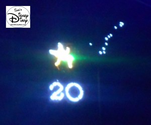A hidden Tinker Bell calls out to 20 years of the lights. The Osborne Spectacle of Dancing Lights - Thanks for 20 years (1995-2015)