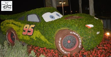 Epcot Flower and Garden Festival - Cactus Road Rally with Mater and Lightning McQueen