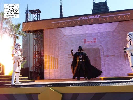 A Galaxy Far, Far Away Stage Show - Vader up close.