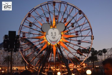 Mickey's Wonder Wheel sits ready for World of Color