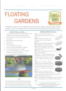 Epcot Flower and Garden Festival 2017 - Walt Disney Floating Gardens Page 1