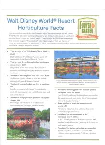 Epcot Flower and Garden Festival 2017 - Walt Disney World Horticulture Facts Page 1