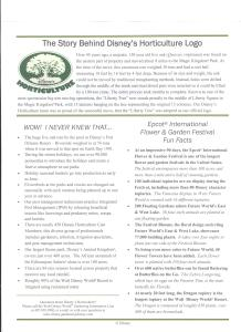 Epcot Flower and Garden Festival 2017 - Walt Disney World Horticulture Facts Page 2