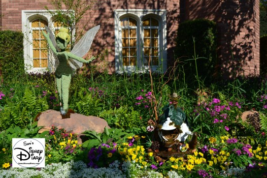 The 2017 Epcot International Flower and Garden Festival - Tinkerbell and her house in the United Kingdom.