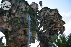 Back outside the water continues to fall from the Floating Mountain.