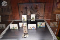 A series of sketches and medallions from Disneyland part of the D23 Expo Pirates Archive