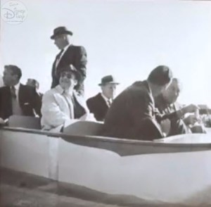 The Legends of Imagineering panel was full of fascinating images, like these. That's Walt in the front seat looking away, in an early test of a pirates boat.