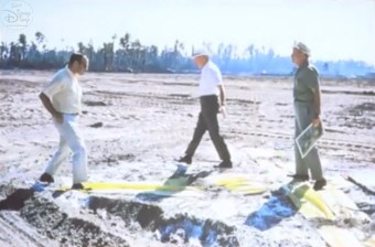 That's Marty on the Left, in front of the Yellow X that will some day be cinderella's Castle