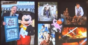 Tony Baxter, with Mickey and his Window on Main Street.