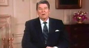 SamsDisneyDiary #101: Then President Ronald Reagan brings holiday greeting to the Walt Disney world Christmas day parade in 1987